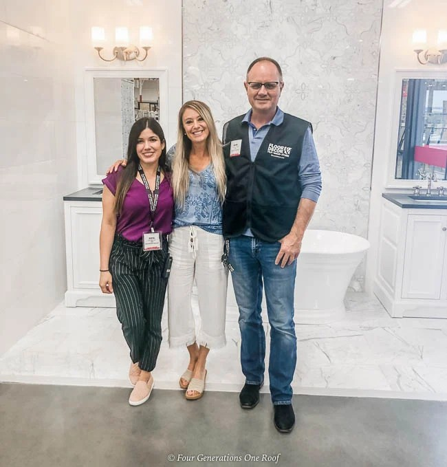 tile and flooring shopping tips - Jessica Bruno Floor & Decor Saugus Massachusetts bathroom display