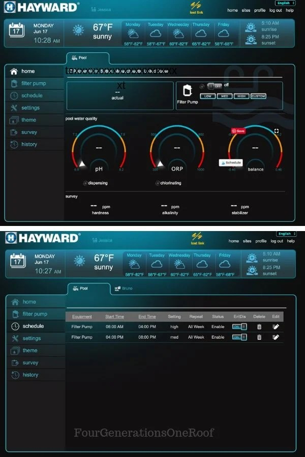 Hayward Pool Omni Logic App