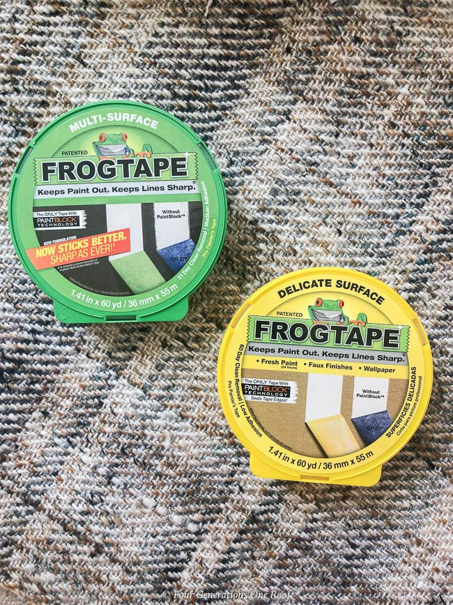 Frogtape for multipurpose surfaces and delicate surfaces