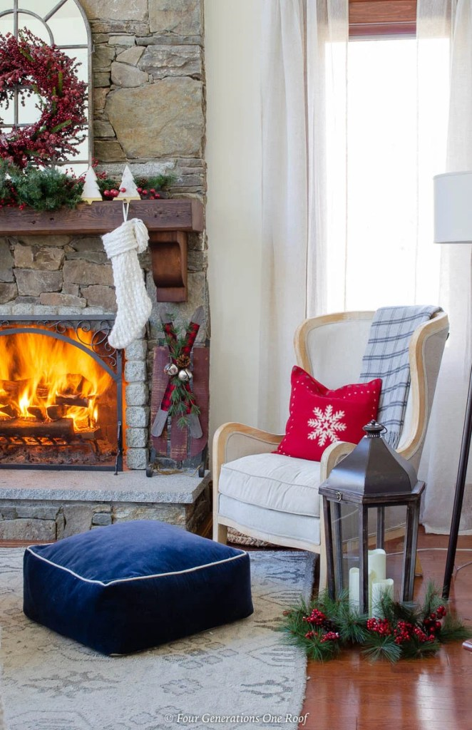 My Holiday Brown Wood Mantel Decorating Ideas + Christmas ...