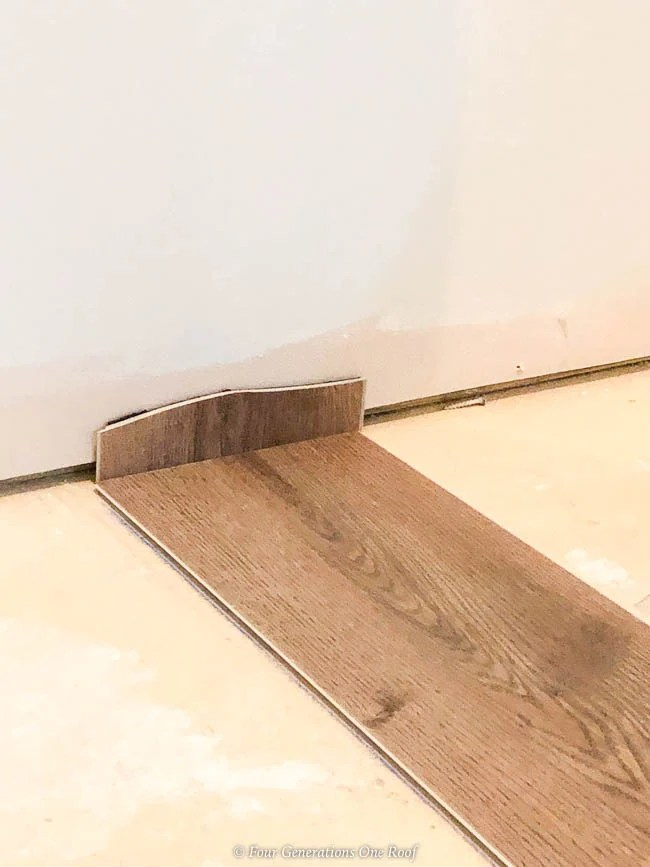 Click Together Installing Rigid Core Vinyl Flooring over Cement in Basement