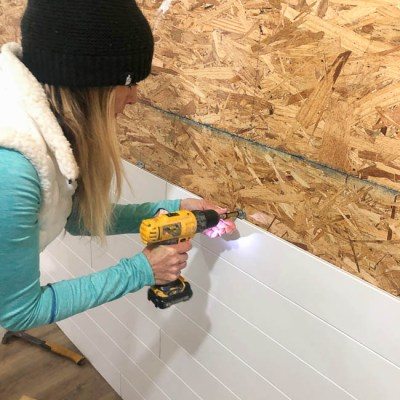 Jessica Bruno Installing armstrong woodhaven solid white wood accent will easy clip