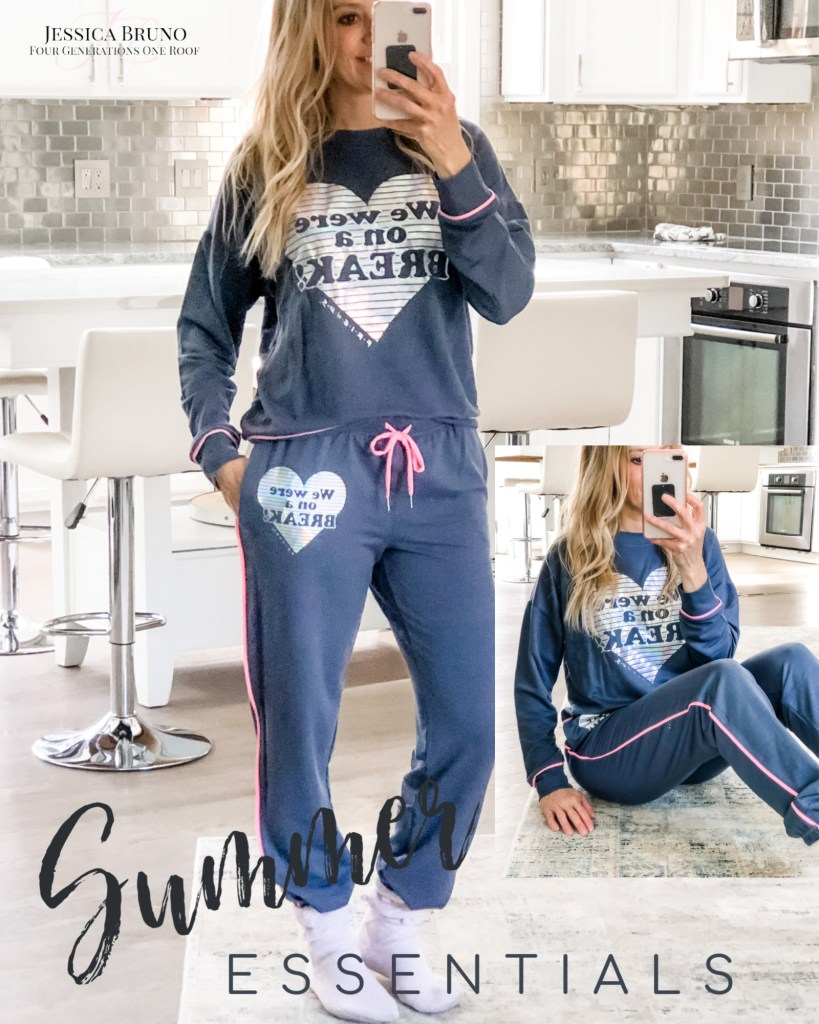 Walmart Soft Navy Friends PJs