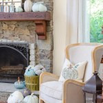 My Blue Fall Mantel Decor Ideas Around A Mirror Four Generations One Roof