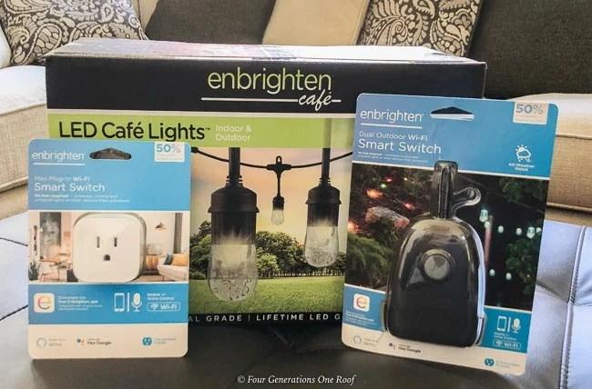 jasco enbrighten Cafe LED Cafe Lights and smart switch
