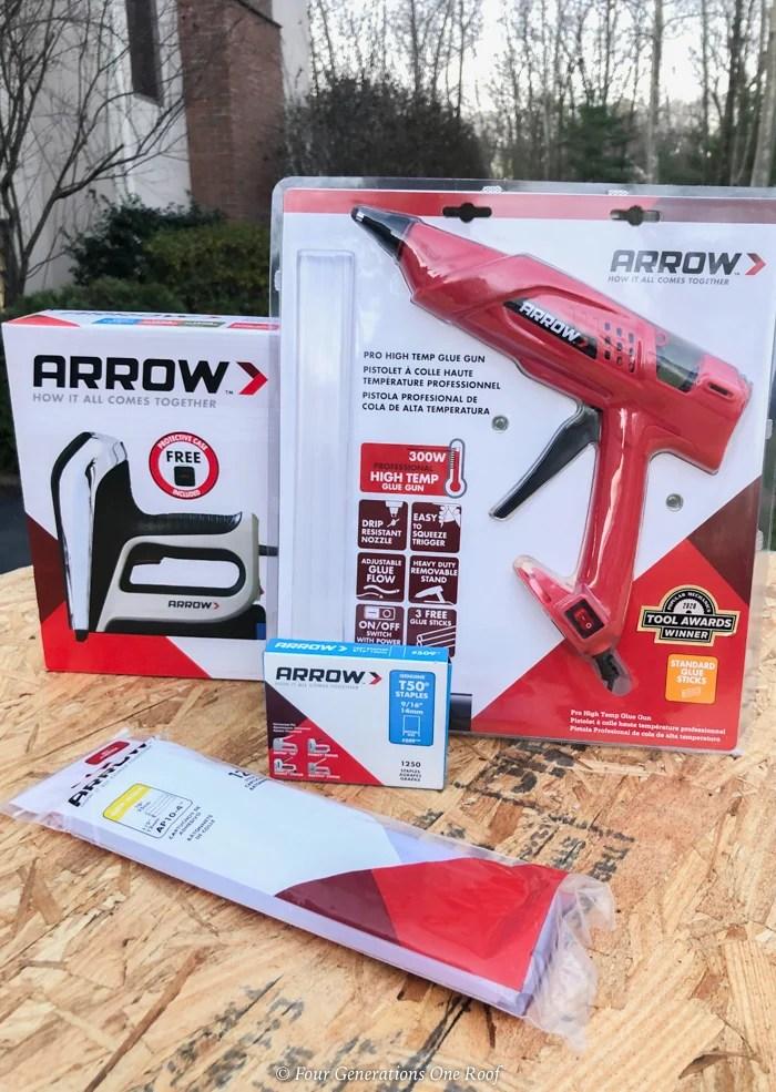 Arrow Fastener glue gun and stapler