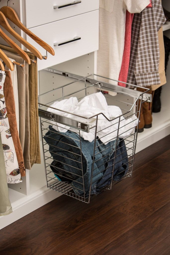 easy closets laundry basket pull out accessory