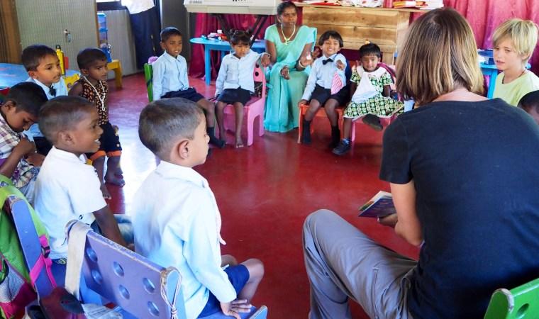 Storytime at St. Andrew's Church Preschool, Amherst Bazaar, Sri Lanka