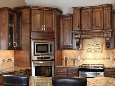 Dark Kitchen Cabinets - Chocolate Maple Glaze Category on Dark Maple Cabinets  id=26144