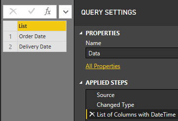 Power Query – Changing DateTime columns data types to Date