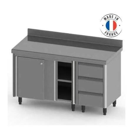 meuble bas portes coulissantes et tiroirs gastros gn 1 1