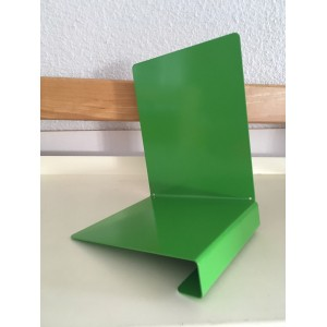 soldes serre livre metal porte etiquette dim l13xh17xp14cm angle droite vert clair jusqu a epuisement du stock