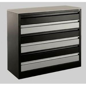 meuble metallique l80cm 6 tiroirs a amenager a la carte avec garnissage des tiroirs en option
