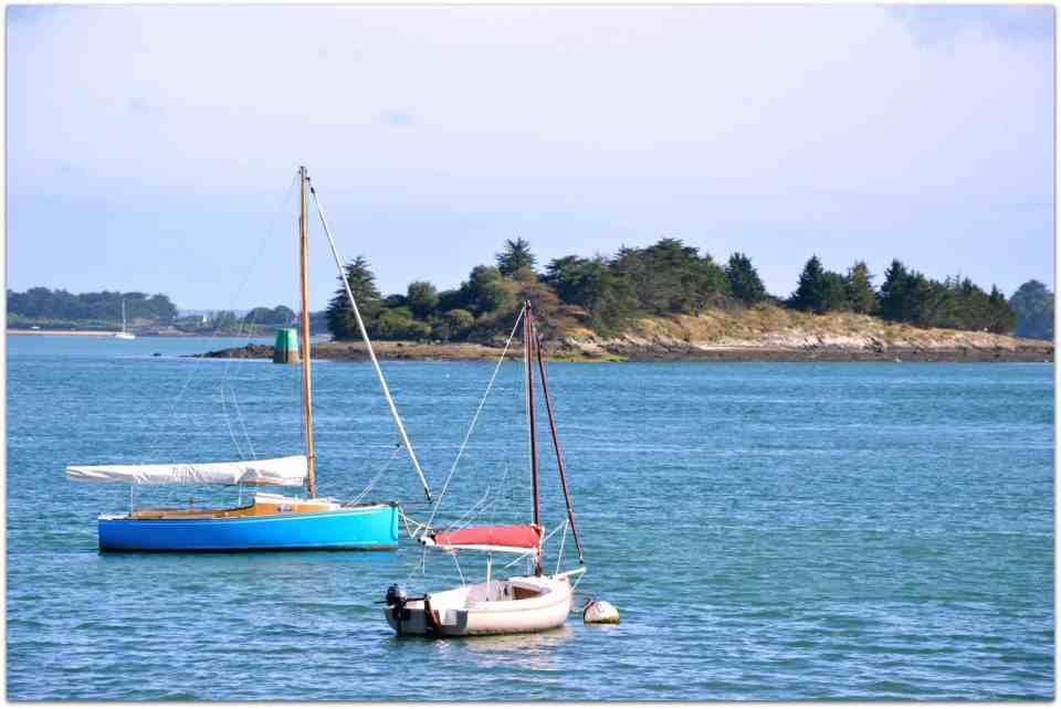 Golf of Morbihan - some of the plenty sailing boats.. you will see a lot during your roadtrip Bretagne