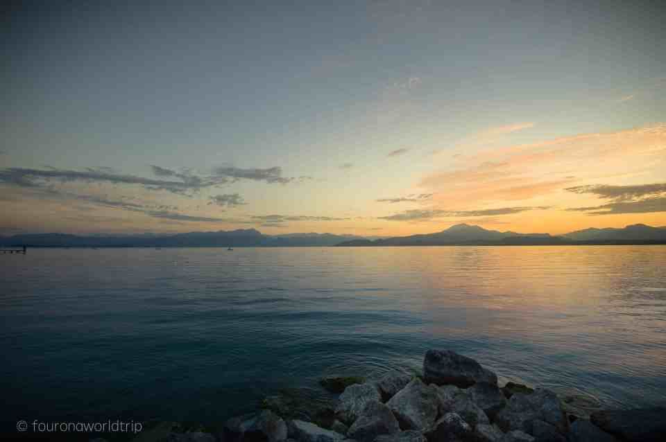 minutes before sunrise at Lake Garda. Yes, I really got up that early