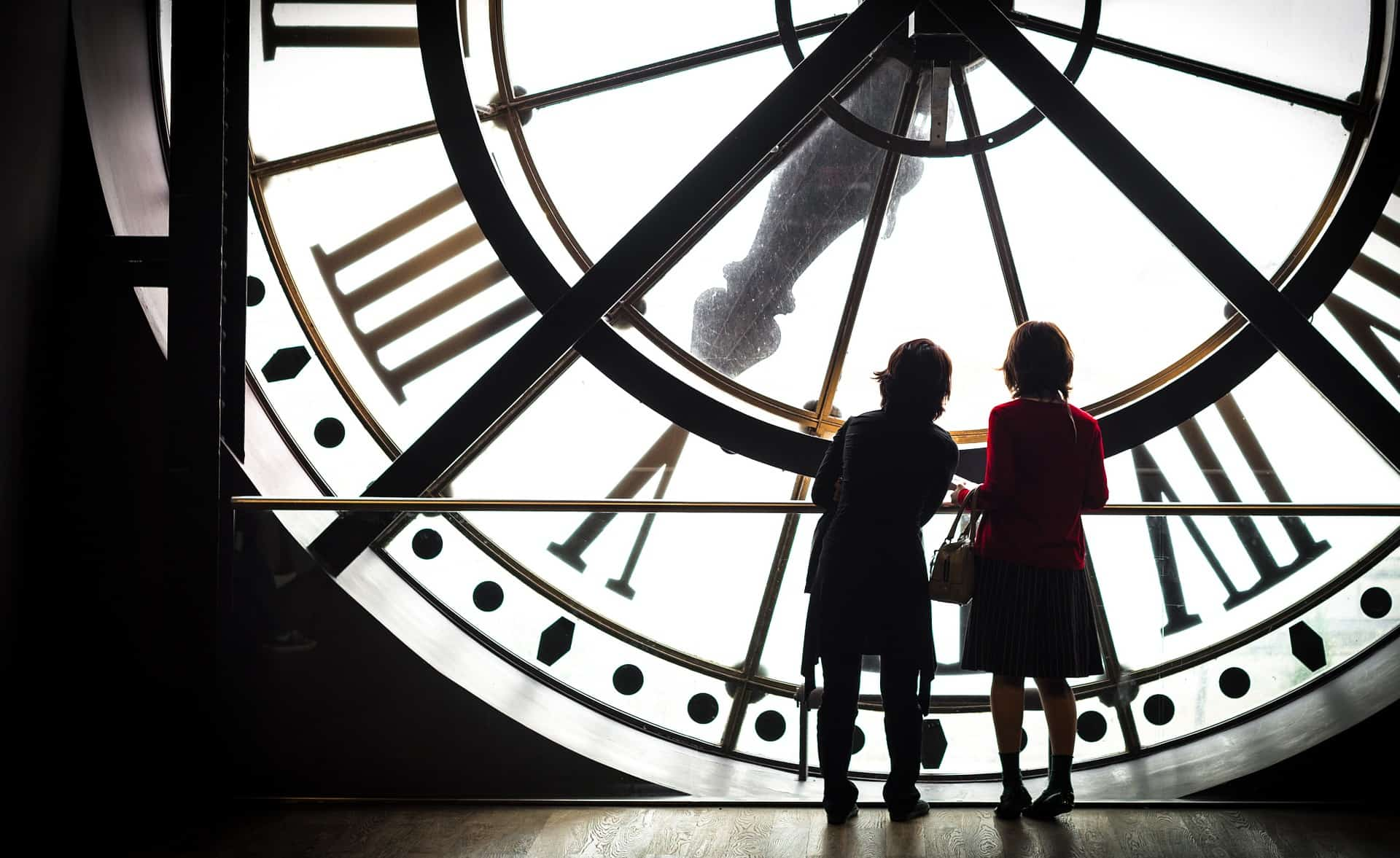 the view through the old clock in the Musée d'Orsay