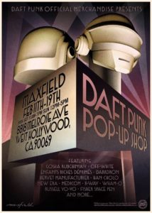 Daft Punk pop up shop poster