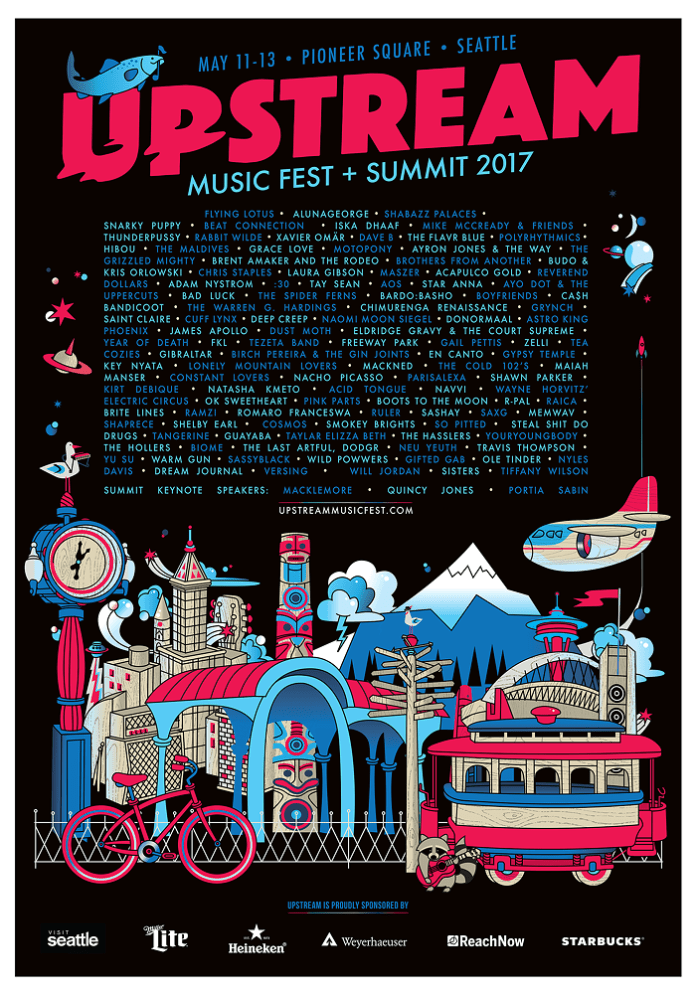 Upstream Music Fest + Summit flyer
