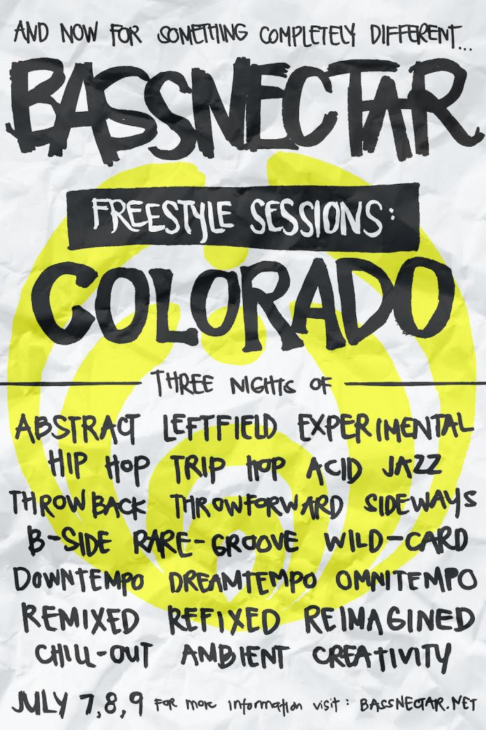 Bassnectar freestyle sessions poster