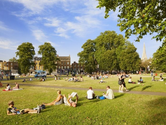 Clapham Common without South West Four Festival all over it