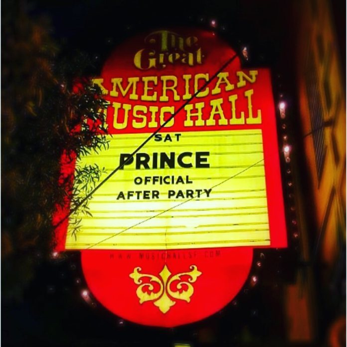 Great American Music Hall Prince after party