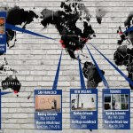 Map tracking Banksy and Massive Attack's movement