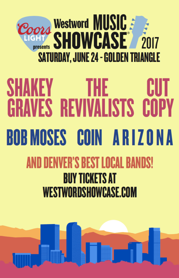 Westword Music Showcase poster