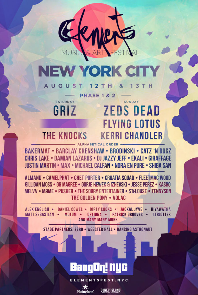 Elements Fest NYC poster
