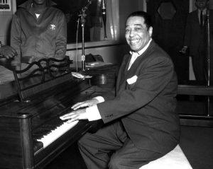 Duke Ellington at his piano