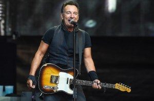 LONDON, ENGLAND - JUNE 05: Bruce Springsteen performing live at Wembley Stadium on June 4, 2016 in London, England. (Photo by Brian Rasic/WireImage)
