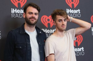 LAS VEGAS, NV - SEPTEMBER 24: DJ's Alex Pall (L) and Andrew Taggart of The Chainsmokers attend the 2016 iHeartRadio Music Festival Night 2 at T-Mobile Arena on September 24, 2016 in Las Vegas, Nevada. (Photo by David Livingston/Getty Images)