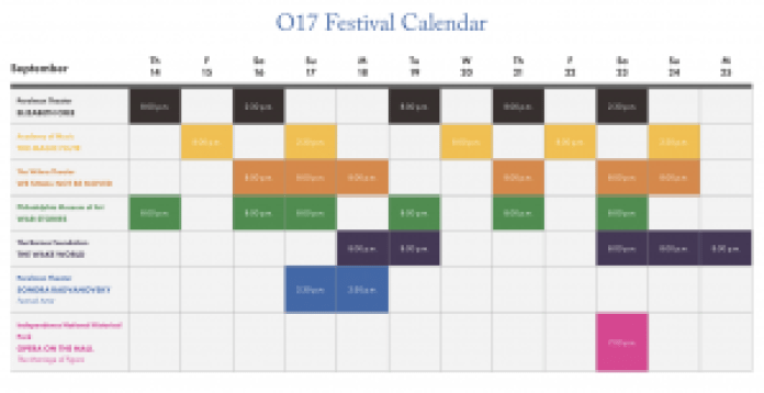 Opera Philadelphia 2017 calendar
