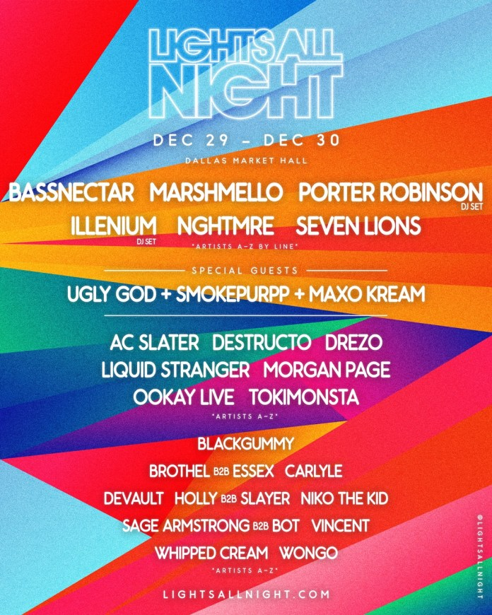 Lights All Night lineup poster
