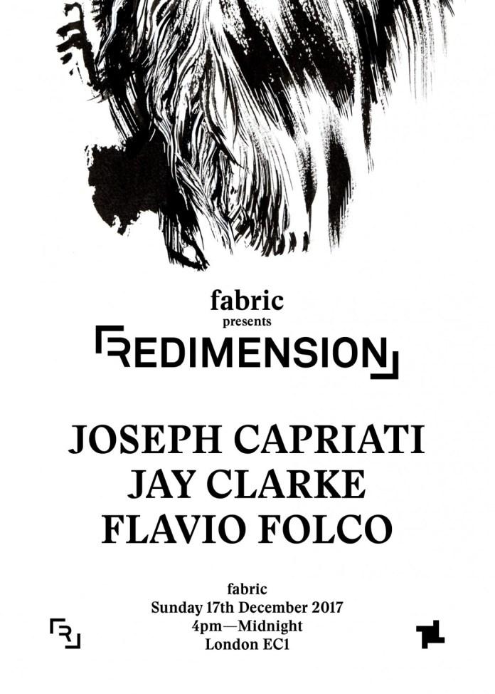 fabric london redimension joseph capriati flyer