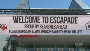 drug amnesty sign safety at music festivals