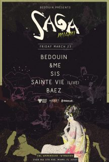 saga bedouin miami music week lineup poster c&l warehouse