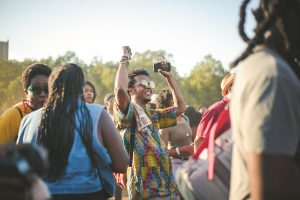attending music festivals