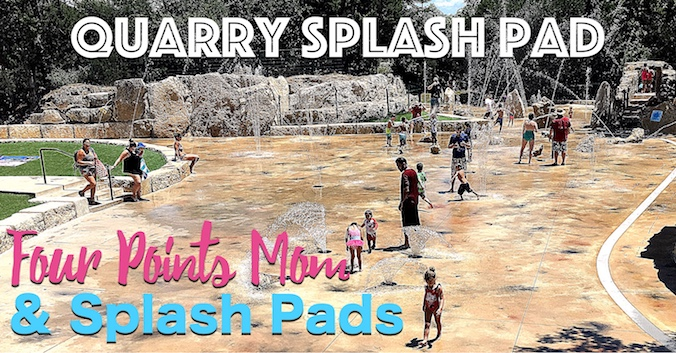 Splashing Around at Leander's Quarry Splash Pad