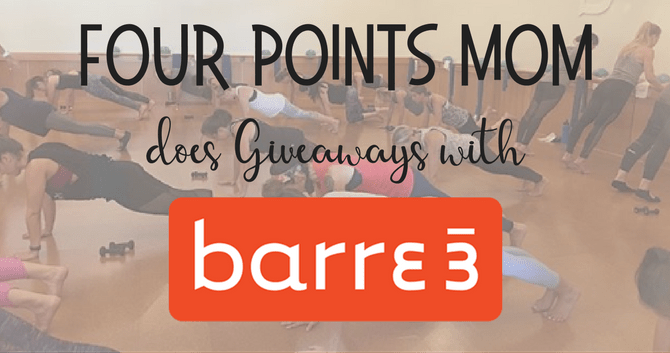 Four Points Mom does Giveaways with Barre3