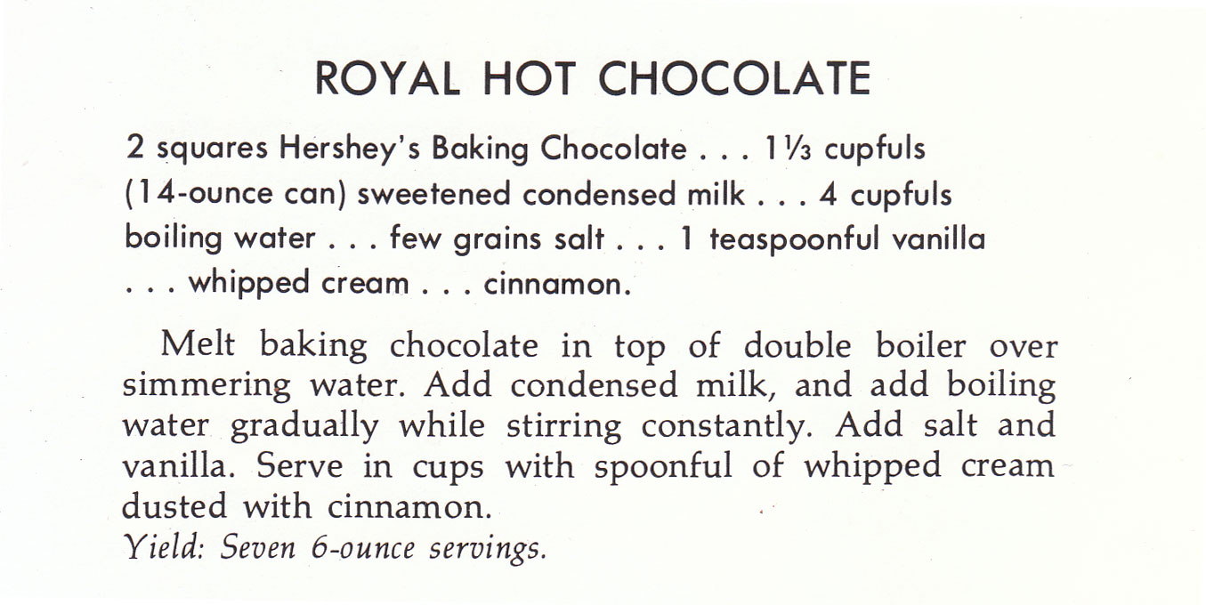 Chocolate Delight: Royal Hot Chocolate « Four Pounds Flour