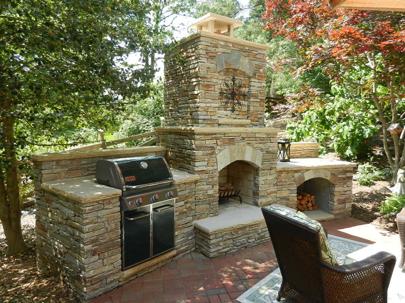Outdoor Kitchens MD, DC & VA | Outdoor Kitchen Ideas ... on Outdoor Kitchen And Fireplace Ideas id=94652