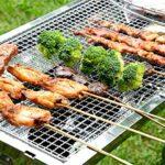 KEKEYANG Barbecue Griller panier, Barbecue Mesh 304 en acier inoxydable Mesh Grilled poisson fil Four à cuisson Moustiquaire rectangulaire Four Lixiviation net rack Extérieur