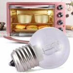 Lampe d'ampoule de cuiseur de four,ampoule à filament blanc chaud E27 40W 220-240V,ampoules à incandescence résistantes de 500 ° C à haute température pour four électrique à gaz et vapeur, vapeur pure