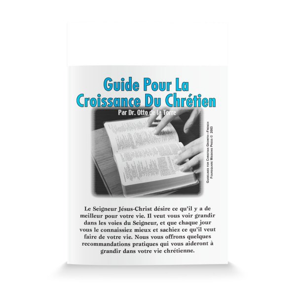Guidelines for Christian Growth-French