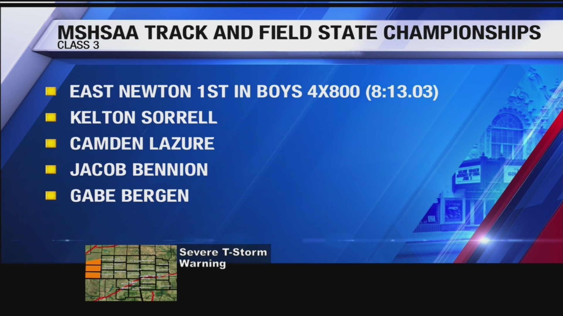 East Newton Wins State in Boys 4x800 Race