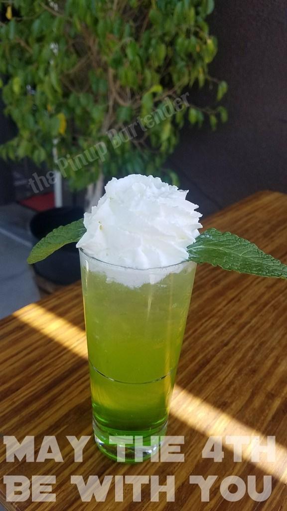 The Yoda Soda. Photo courtesy of the Pin Up Bartender.