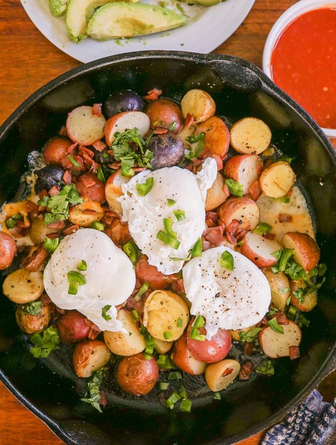 Spicy Poached Eggs and Potatoes
