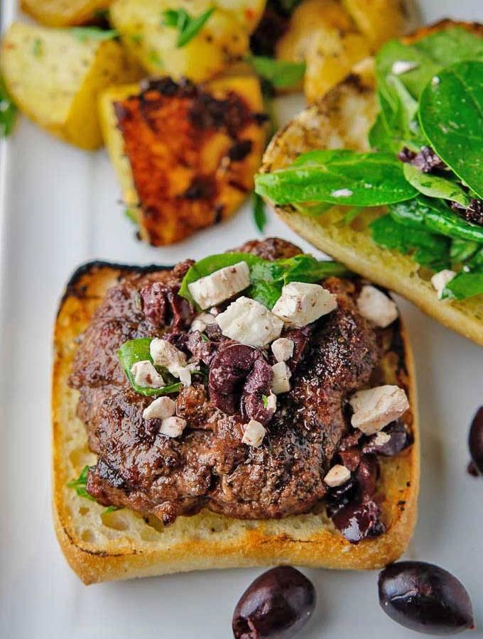 Greek-style Lamb Burgers