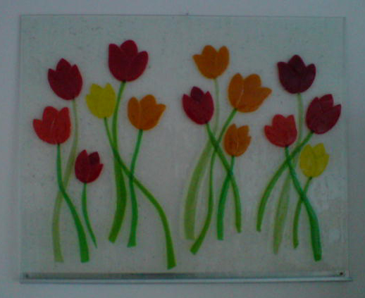 glasfusing tulips tulpen