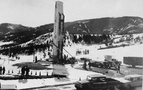 A Minuteman missile at Malmstrom Air Force Base in the 1960s